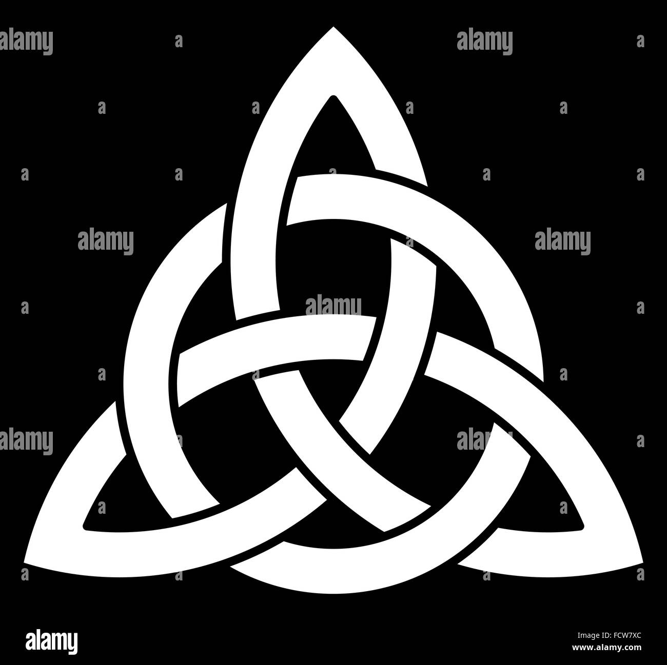 3 point celtic triquetra trinity knot interlaced with a circle for vector illustration 3 point celtic triquetra trinity knot interlaced with a circle for your design or biocorpaavc Gallery