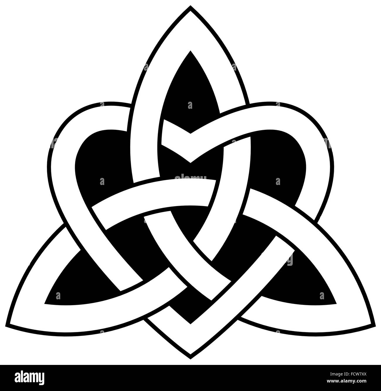 3 point celtic trinity knot triquetra interlaced with a