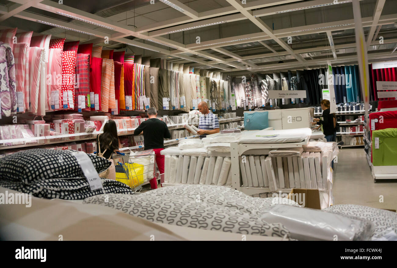 Interior of ikea store malaga spain clients choosing for Ikea store online shopping