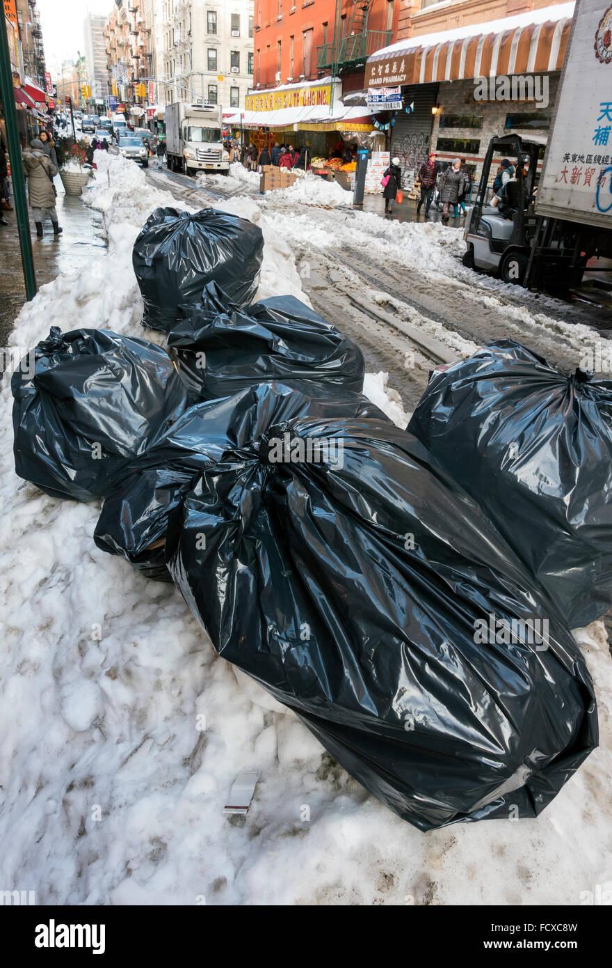 Art Bag Nyc Garbage Bags New York City Usa Stock Photo Royalty Free Image