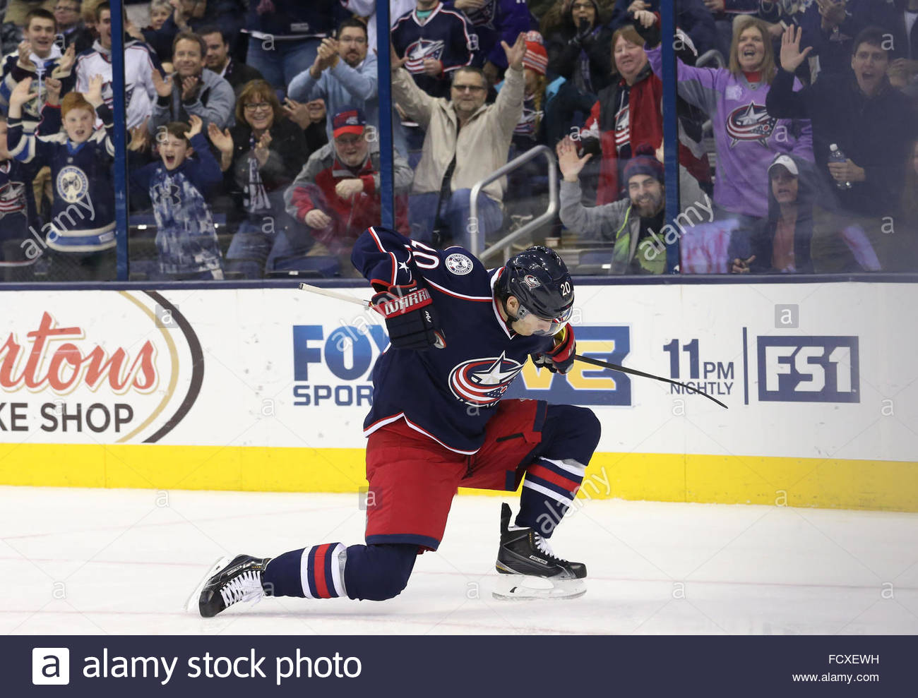 Columbus Ohio Usa. 25th Jan 2016. Columbus Blue Jackets Left