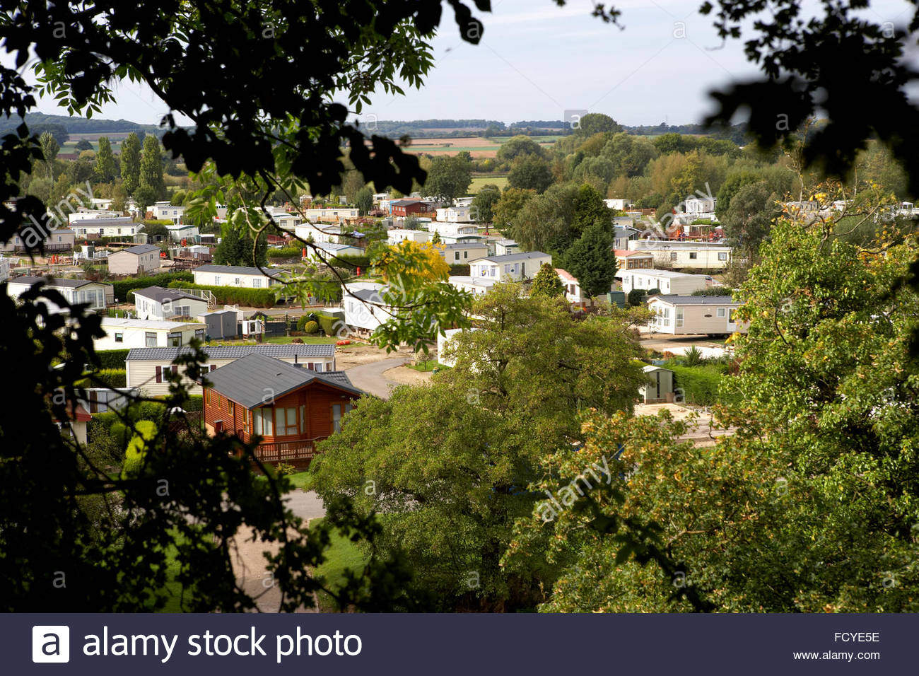 A Mobile Home Residential Park Stock Photo Royalty Free