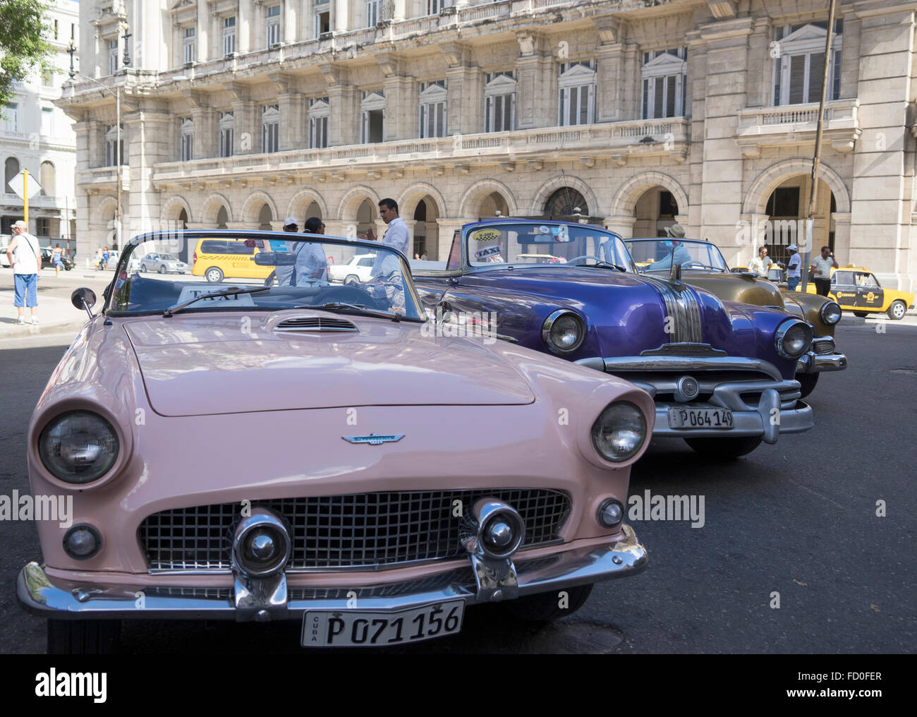 Stylish Vintage Taxi Cars In Havana Cuba Stock Photo Royalty - Stylish classic cars