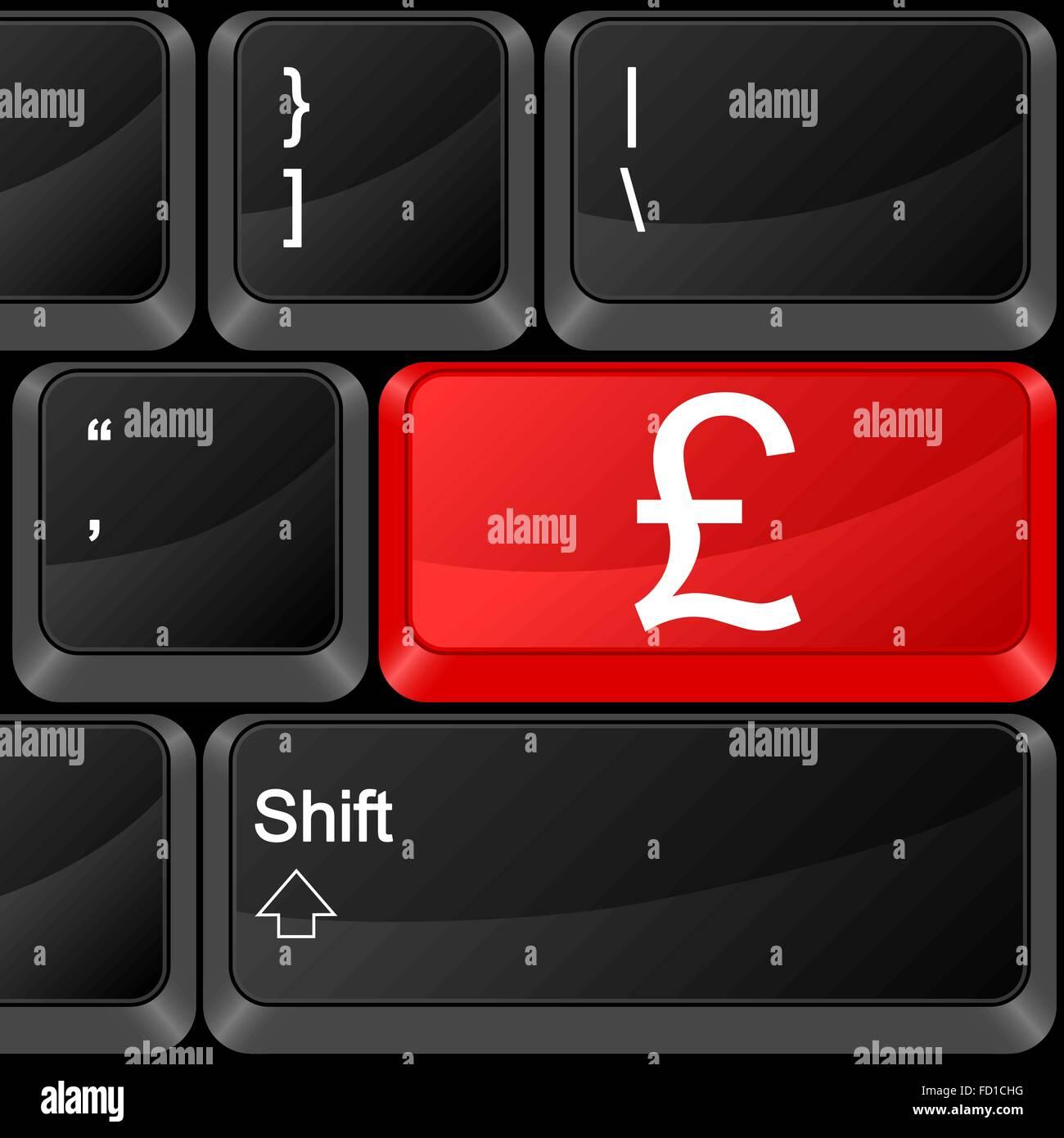 Keyboard computer button british pound vector illustration stock keyboard computer button british pound vector illustration biocorpaavc Choice Image