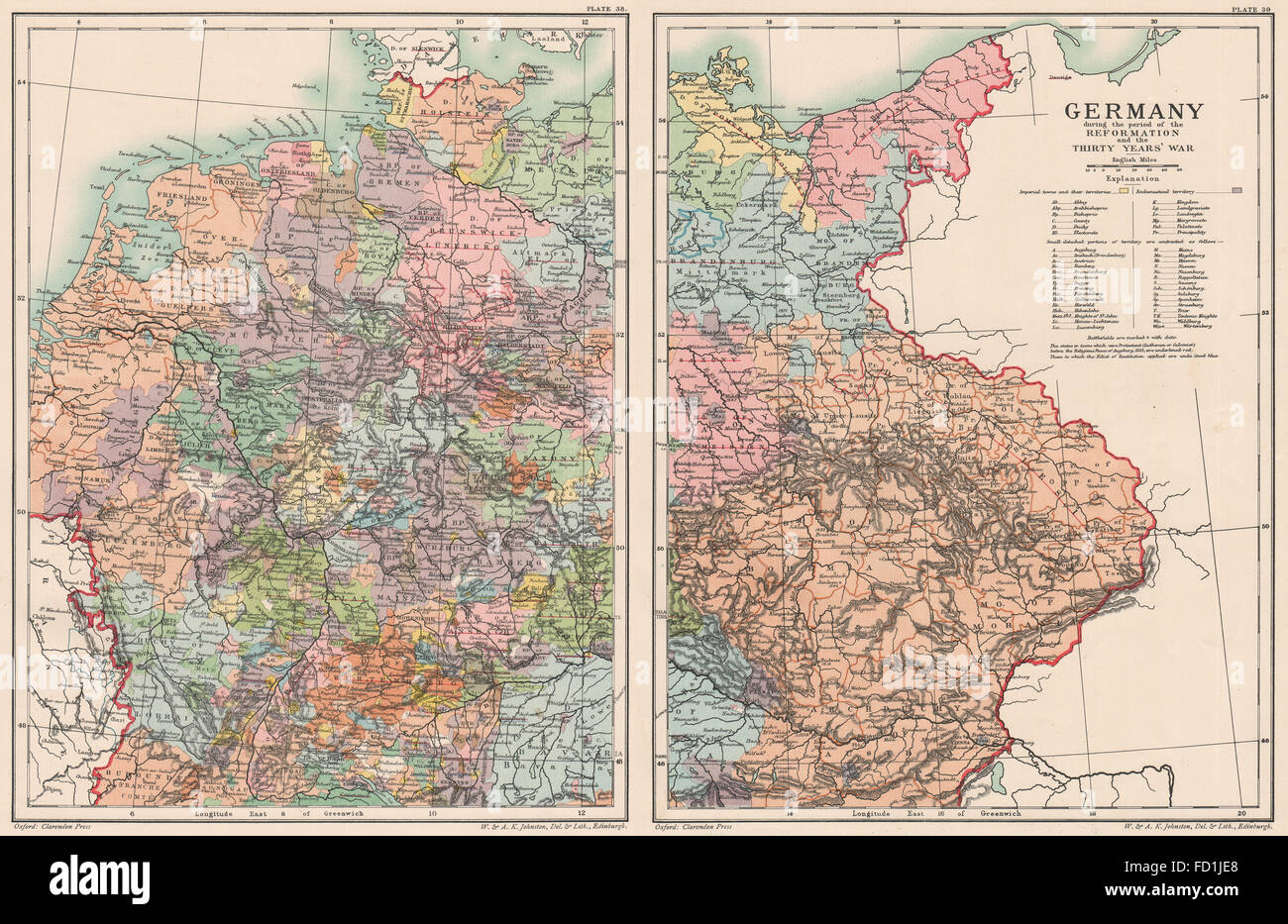 Thirty Years War Stock Photos Thirty Years War Stock Images Alamy - Map germany thirty years war