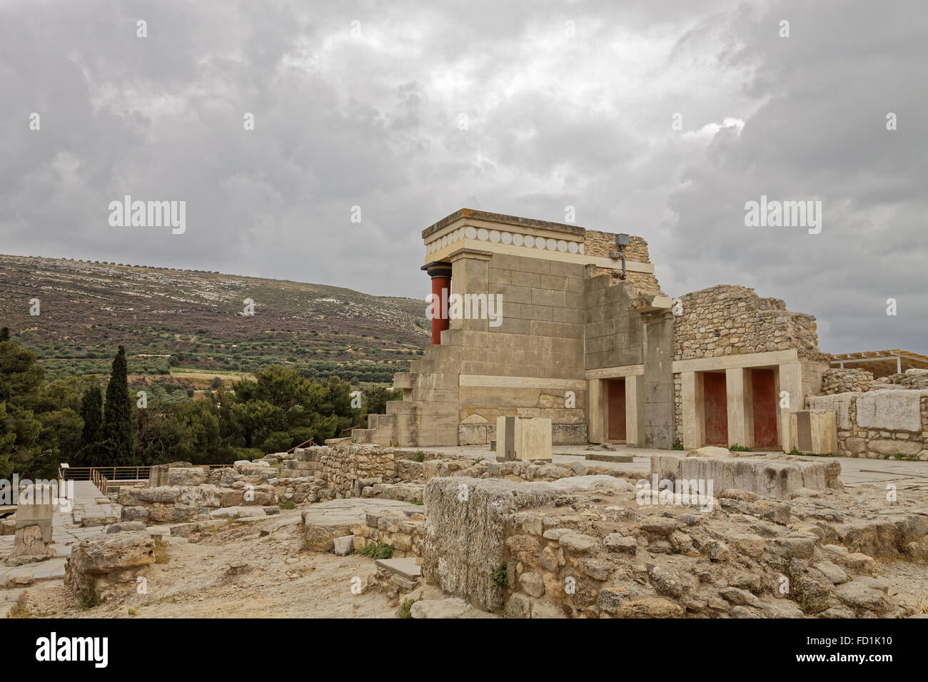 The palace of Knossos Minotaur or Labyrinth Restored North ...