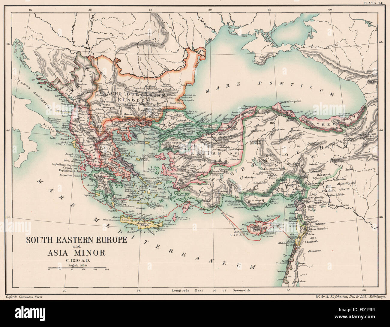 Historical Map Europe Asia Photos and Historical Map Europe – South of Europe Map