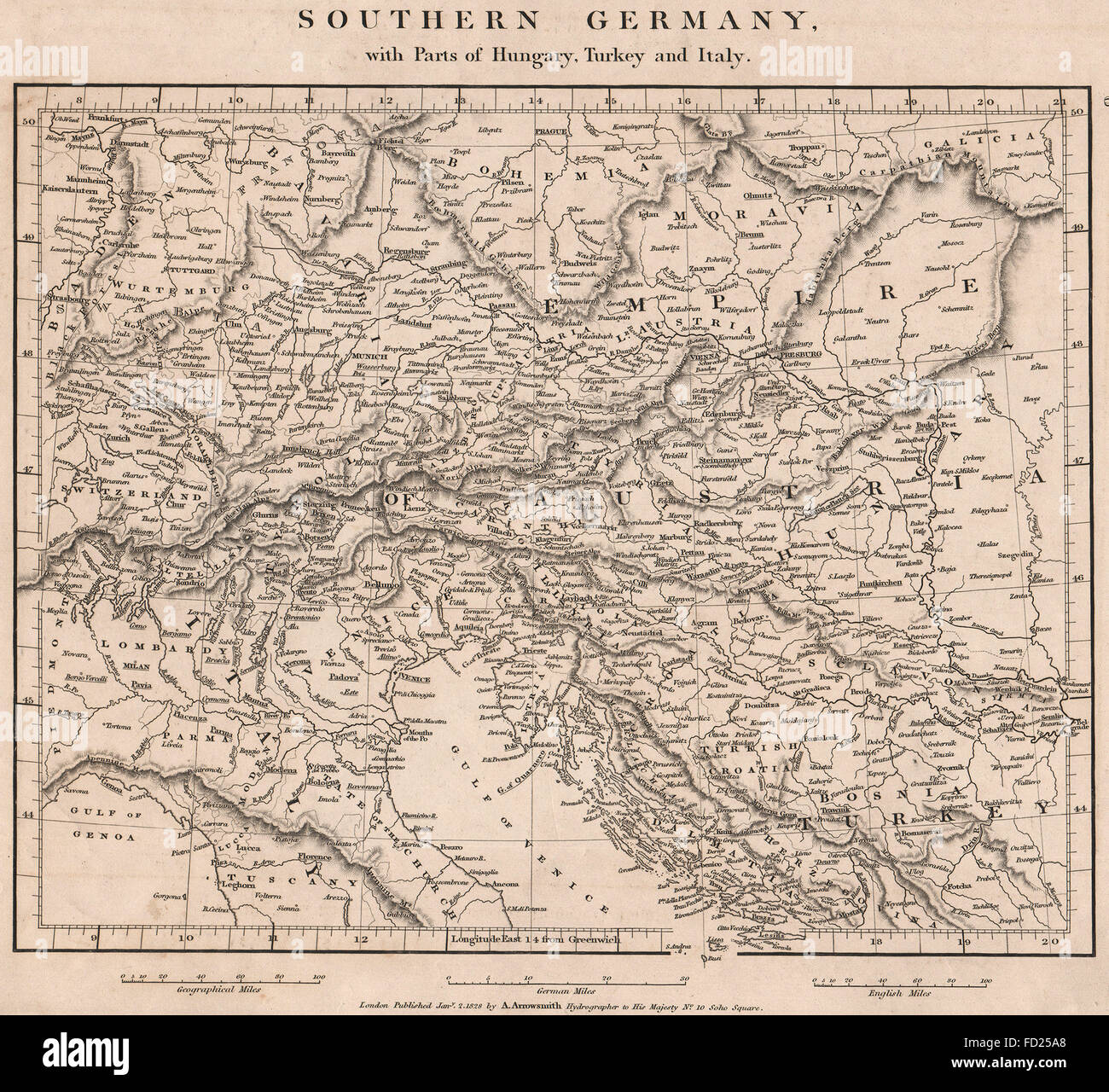 Cent Europe Southern Germany Parts Hungary Turkey Italy – Southern Germany Map