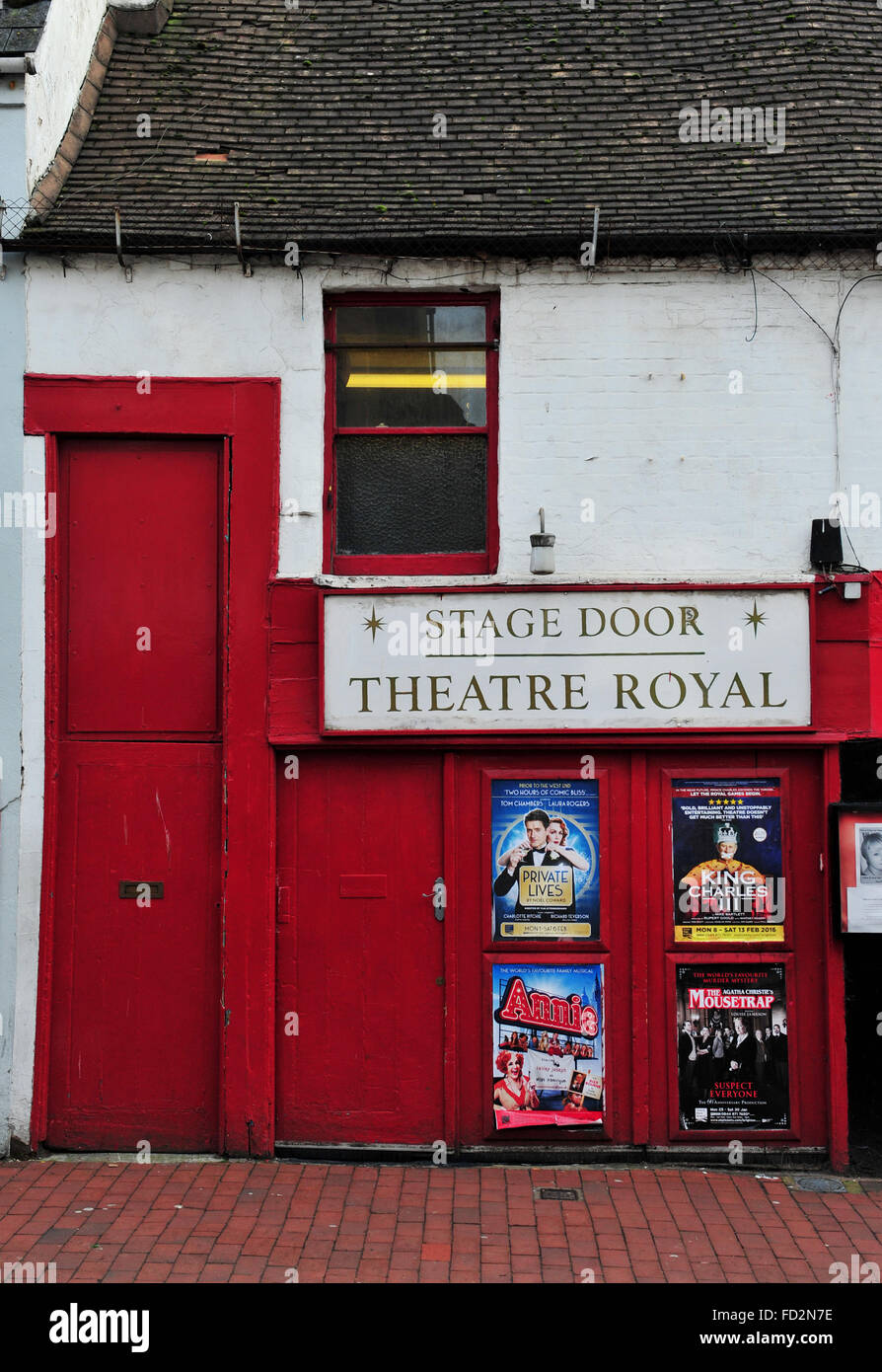 Brighton Theatre Royal Stage Door entrance in Bond Street Stock ...
