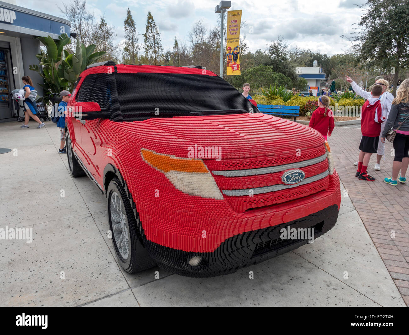 a life size ford explorer suv made from lego outside the ford driving stock photo royalty free. Black Bedroom Furniture Sets. Home Design Ideas