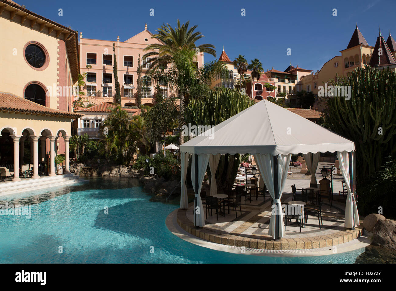 Pool at the gran hotel bahia del duque at the costa adeje - Hotel bahia del duque tenerife ...