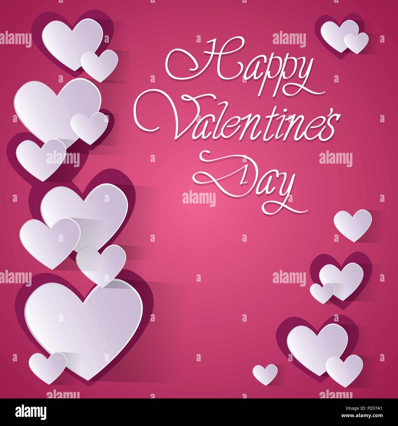Pink Valentine Day Gift Card Holiday Love Heart Shape Vector – Heart Shaped Valentine Cards