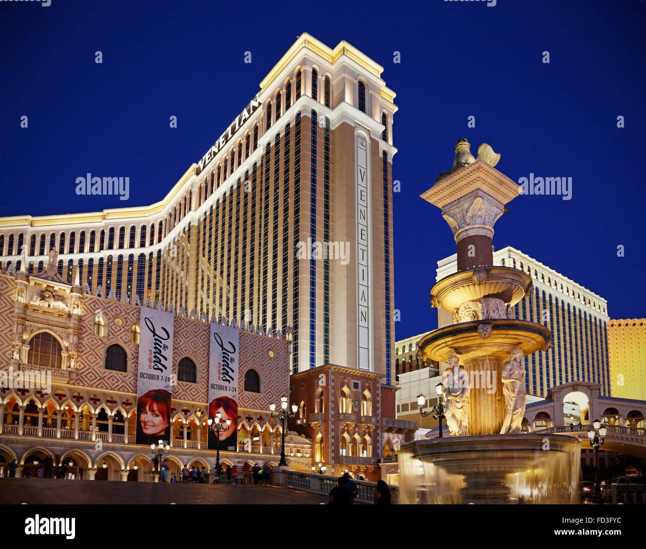 The venetian las vegas hotel deals - Stock Photo The Venetian Hotel In Las Vegas Nevada At Night
