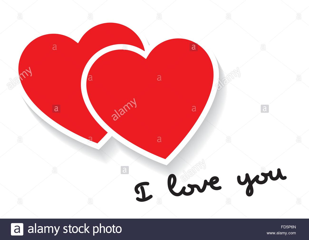I love you words with two hearts in red valentines day love i love you words with two hearts in red valentines day love concept love symbol biocorpaavc