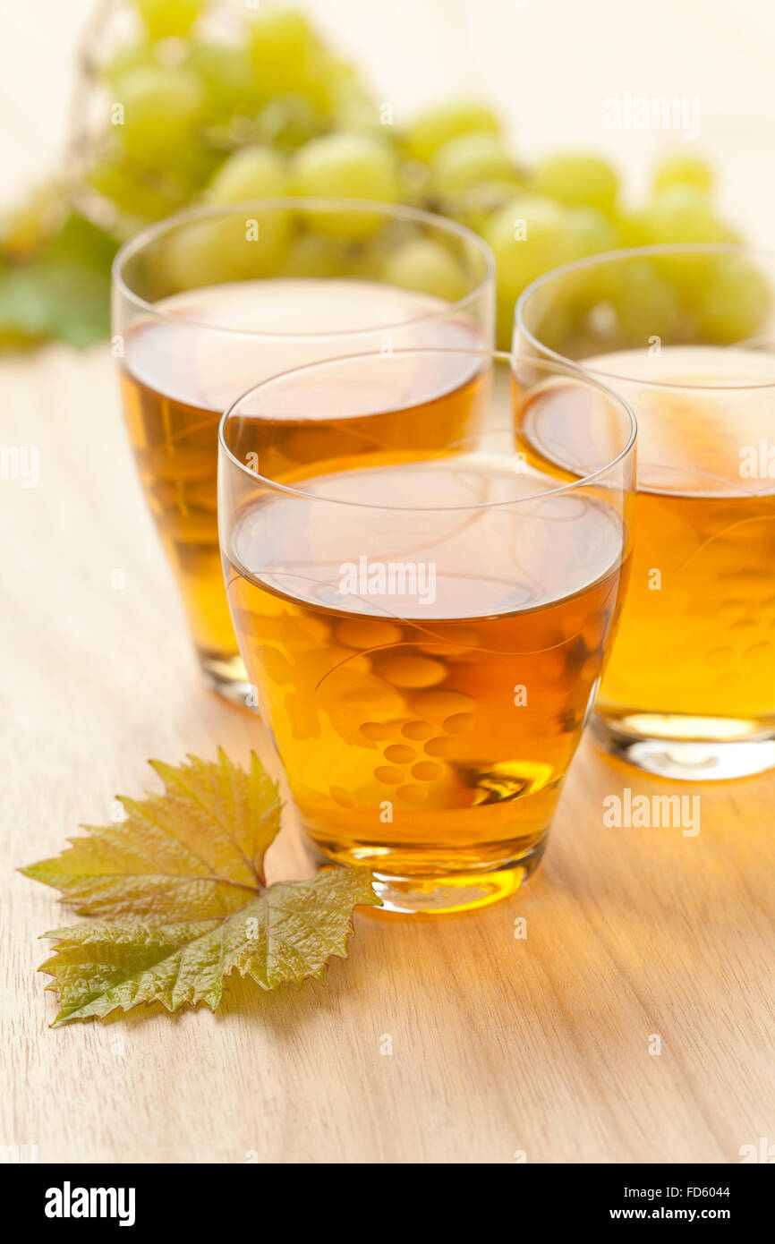 Fresh white grape juice in a glass Stock Photo: 94174196 ...