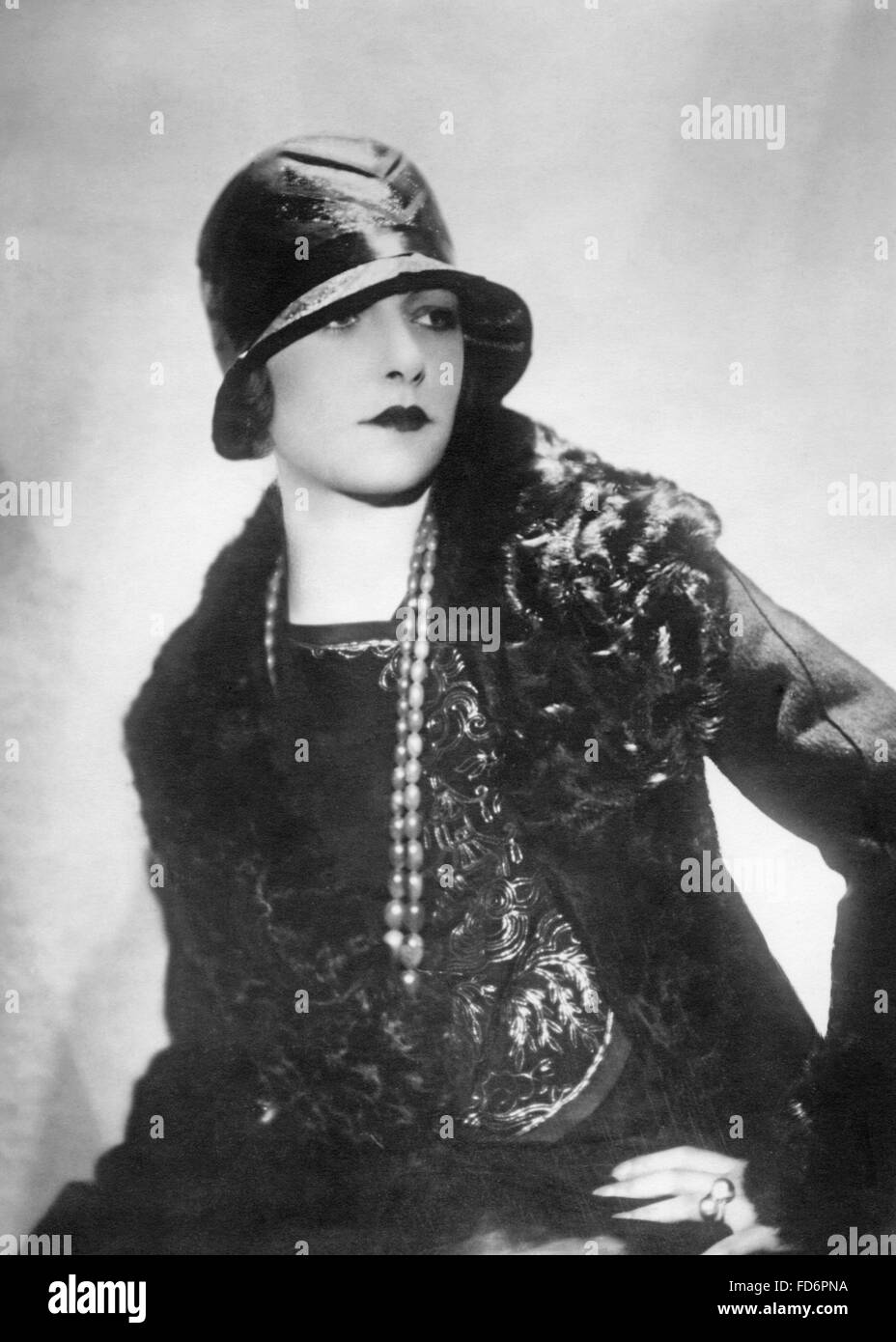 hat fashion for women 1930s stock photo royalty free