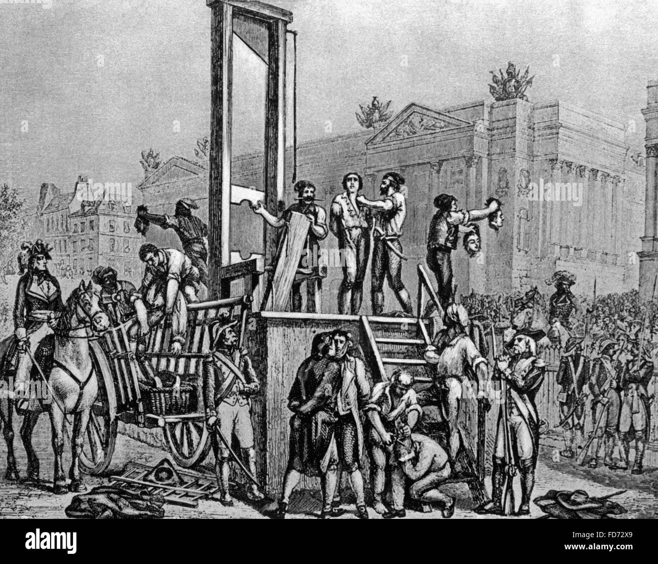 Execution of Robespierre, 1794 Stock Photo: 94198337 - Alamy