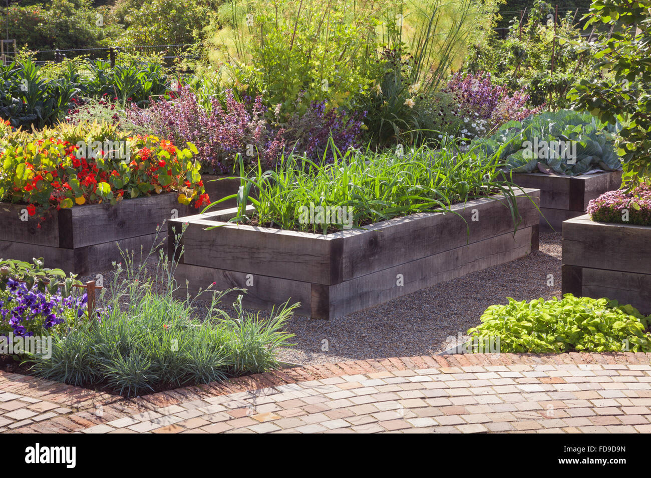 English Kitchen Garden Raised Beds Made Of Quercus Robur English Oak The Kitchen