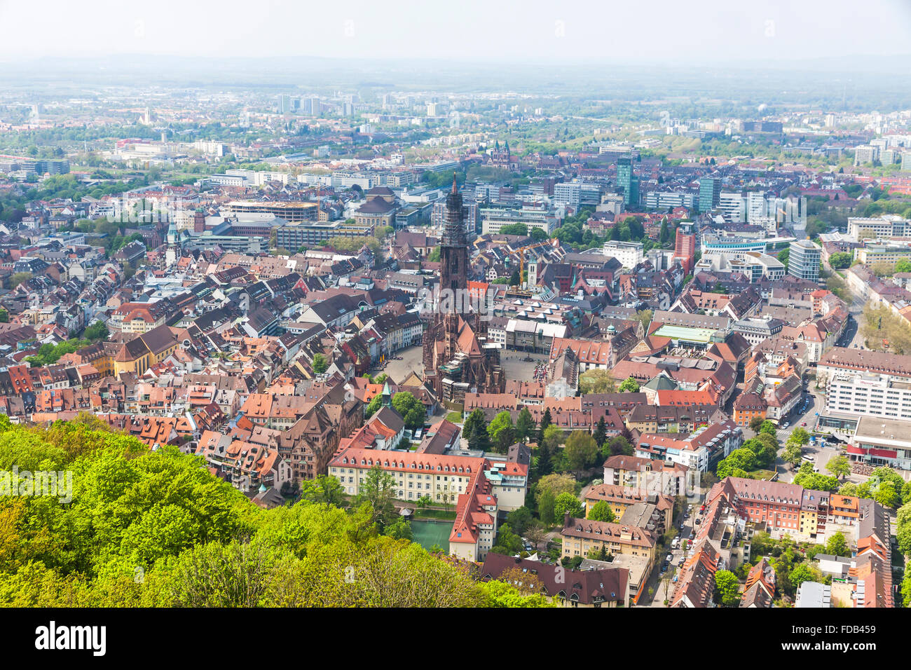aerial view of freiburg im breisgau city germany freiburg munster stock photo 94287125 alamy. Black Bedroom Furniture Sets. Home Design Ideas