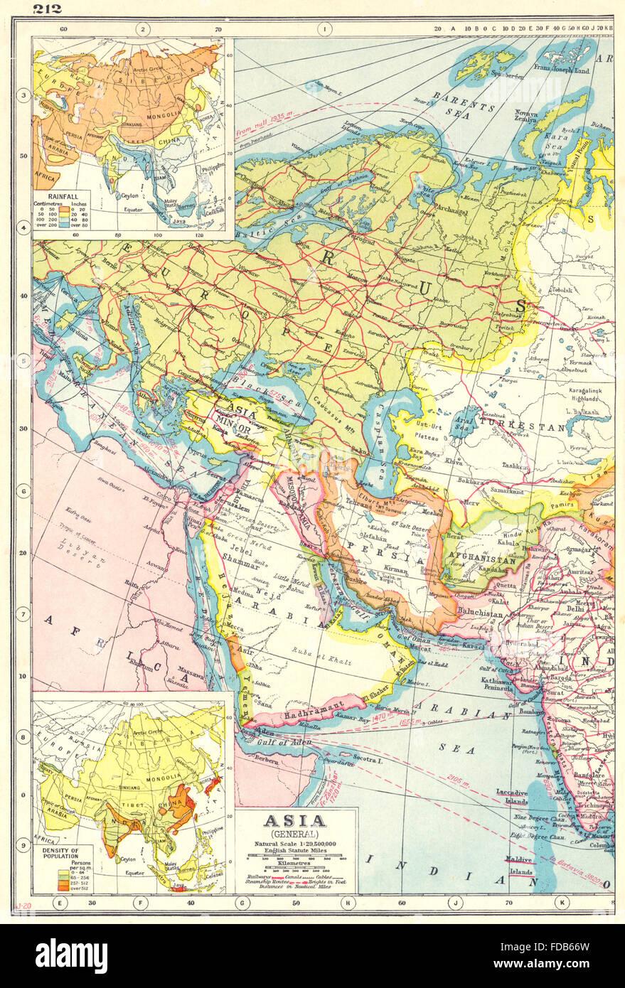 WEST ASIAArabia Persia Mesopotamia RussiaRainfall population