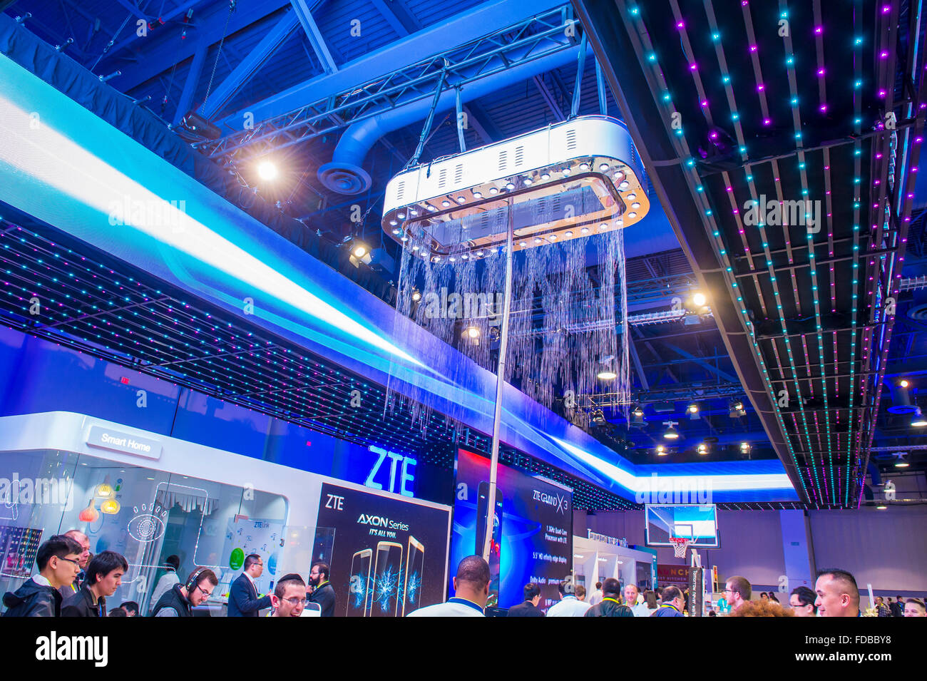 the zte booth at the ces show held in las vegas stock photo royalty free image 94293228 alamy. Black Bedroom Furniture Sets. Home Design Ideas