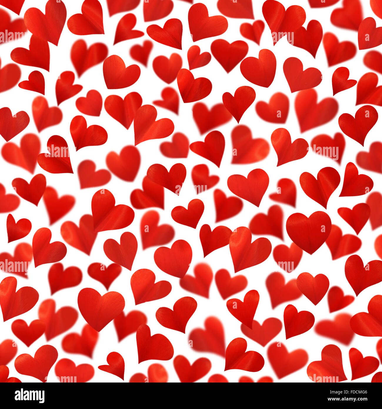 background with red hearts in 3d valentine card birthday