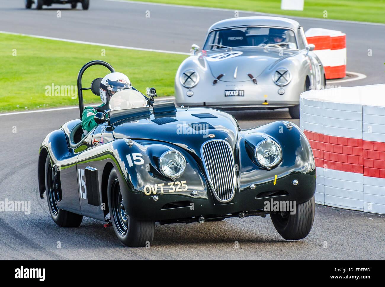 A 1950 Jaguar Xk120 Owned By Derek Hood And Raced By John