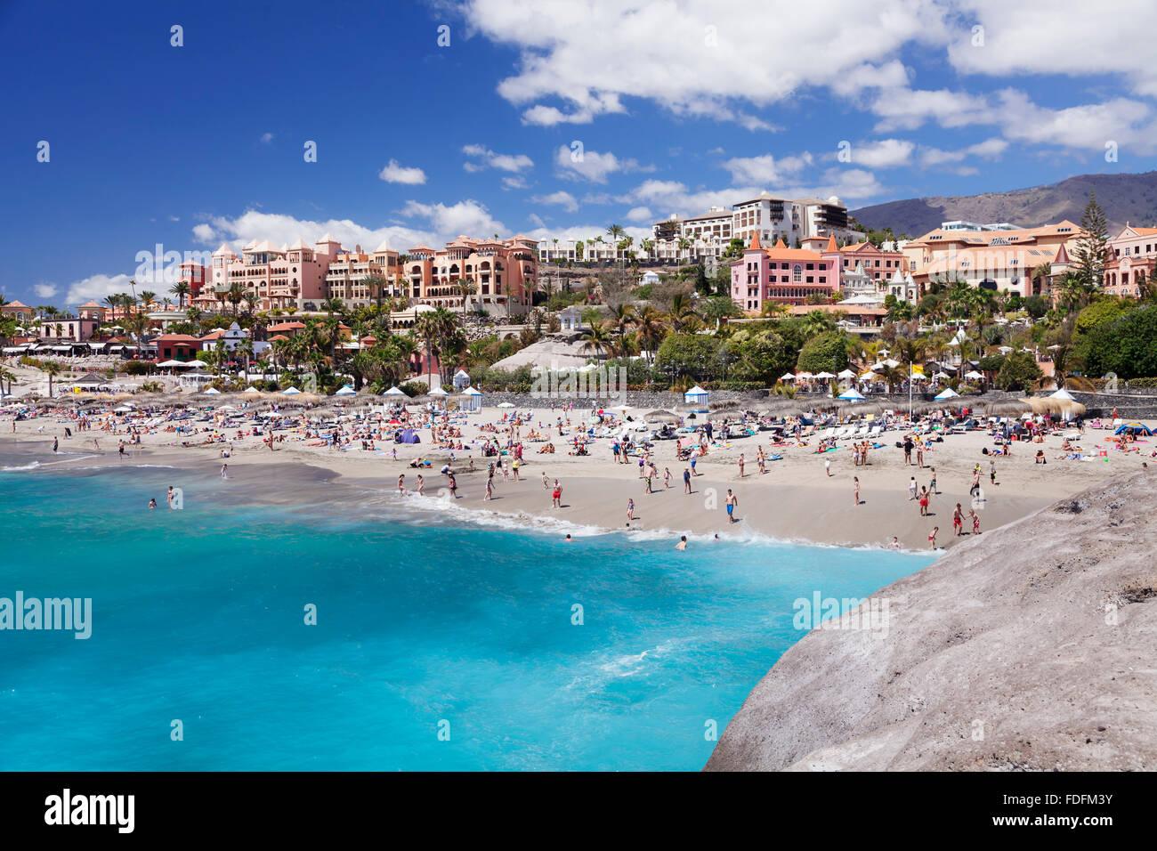 Playa del Duque beach, Costa Adeje, Tenerife, Canary Islands, Spain Stock Pho...