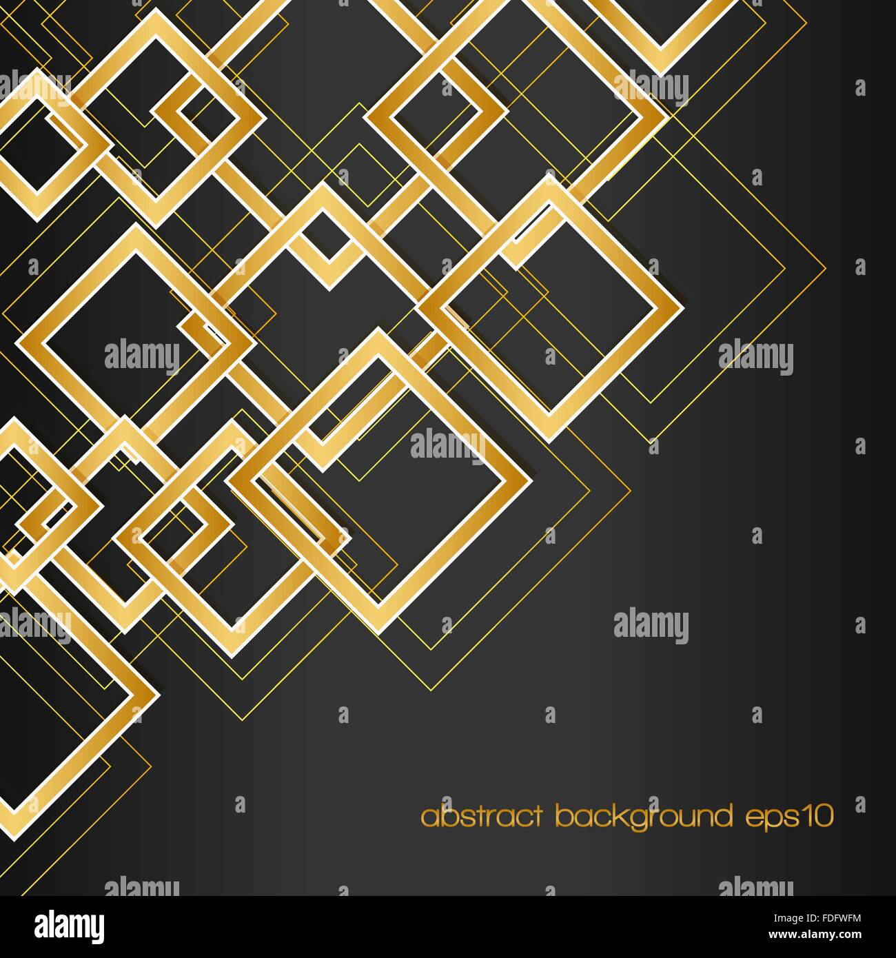 abstract background with golden rhombus frames and lines