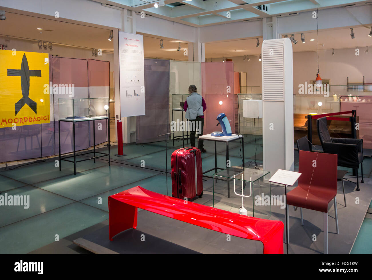 Interior With Contemporary Furniture In The Design Museum Gent In The City  Ghent, East Flanders, Belgium