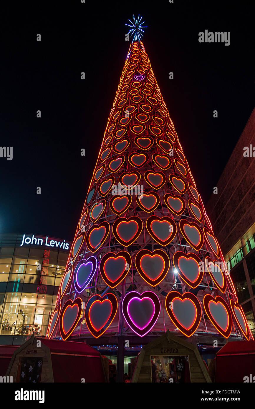 Giant LED Lights Christmas Tree Liverpool One Christmas Lights ...