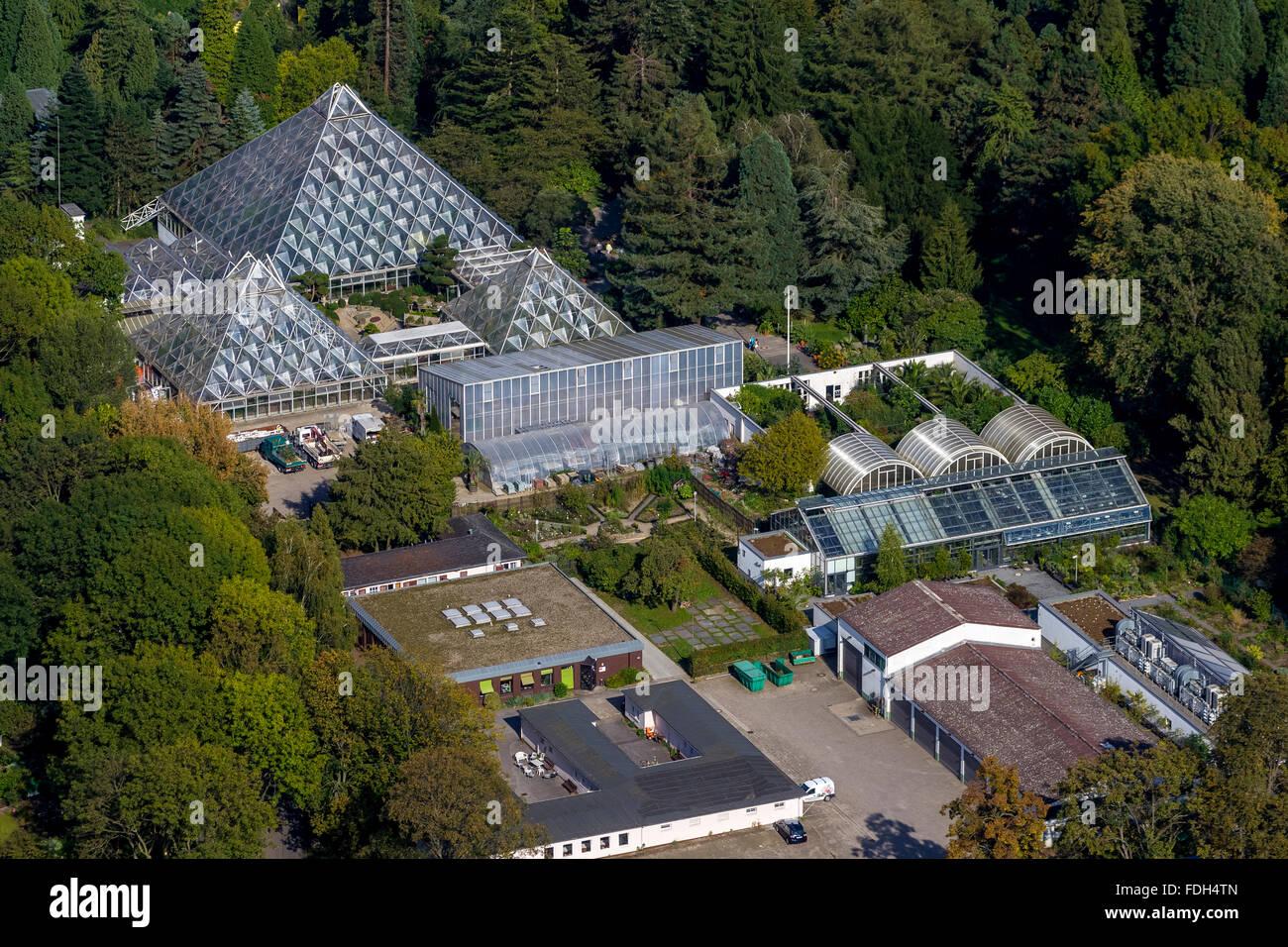 aerial view grugapark essen rain forest house botanical gardens stock photo 94419381 alamy. Black Bedroom Furniture Sets. Home Design Ideas