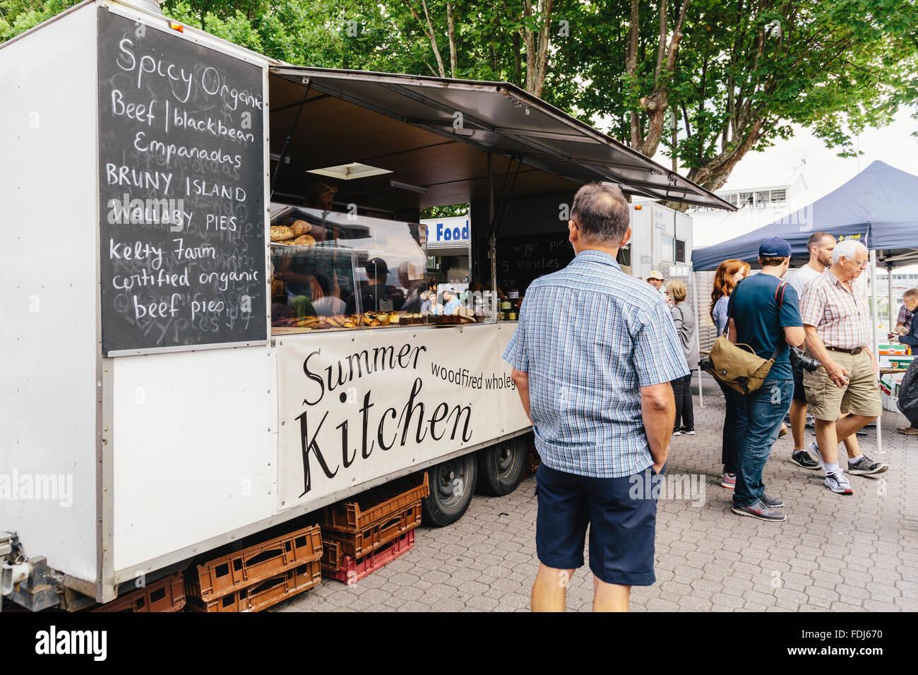 Food Truck Selling Australian Produce Salamanca Markets Place Hobart Tasmania Australia