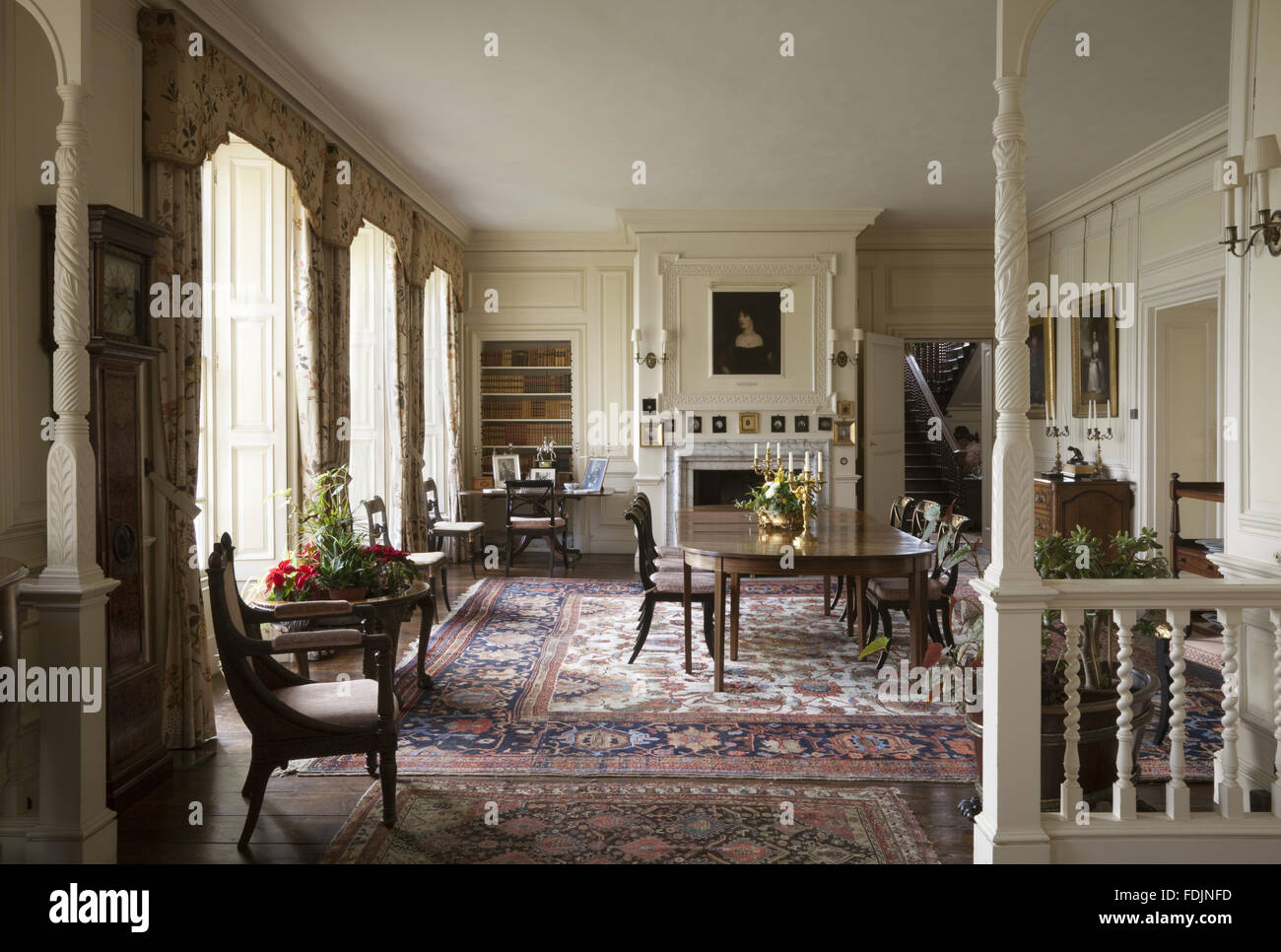 the dining room at gunby hall lincolnshire the room was created