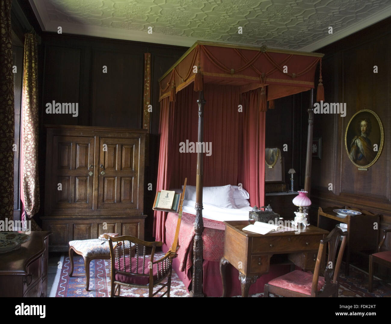 Period Bedroom Furniture The Red Bedroom At Erddig Wrexham Wales The Mahogany Four