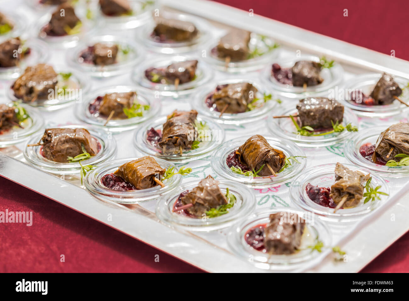 spesso special gourmet starters finger food at celebration Stock Photo  GF44
