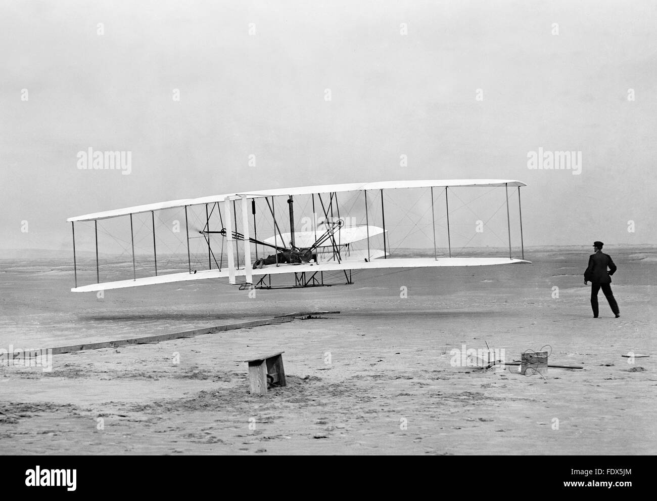 First Flight Kitty Hawk 1903 intended for wright brothers first powered flight in the wright flyer at kill