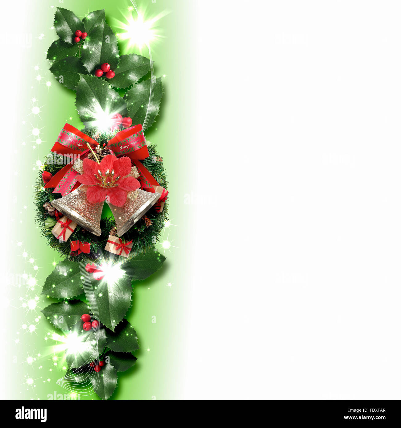 Why is holly a traditional christmas decoration - Illustration Of Background With Traditional Christmas Decoration Ornament