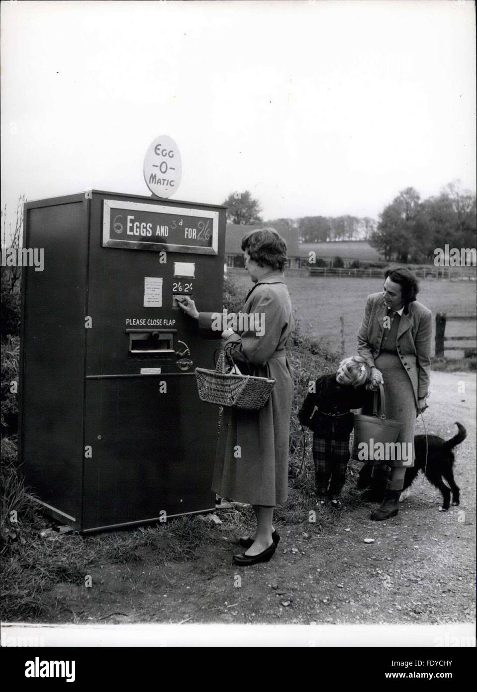 1957 half a crown local shoppers see the machine for the first 1957 half a crown local shoppers see the machine for the first time and buy half a dozen eggs for 23 threepence change is attached to the carton ccuart Image collections