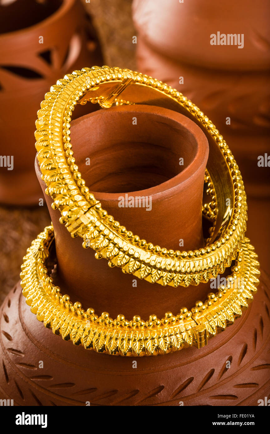Jewelry, gold ornament, gold bangles, gold bracelets, Indian ...