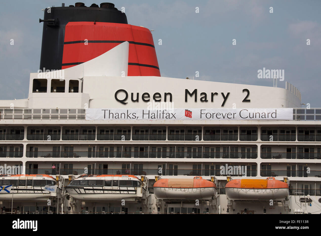 The Smoke Stack Of The Queen Mary Cruise Ship While In Halifax - Is there smoking on cruise ships