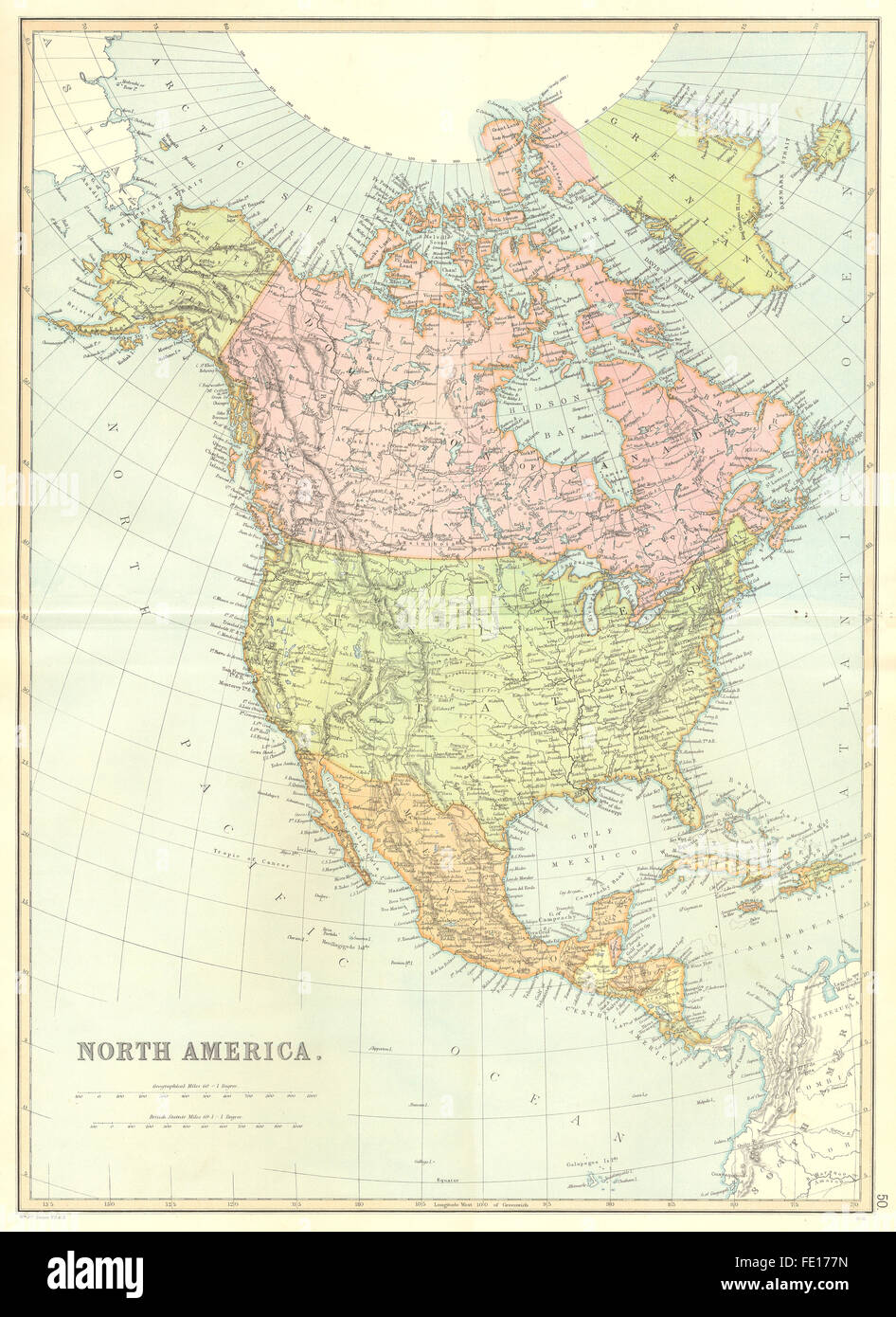 NORTH CENTRAL AMERICA USA Canada Mexico Caribbean BLACKIE