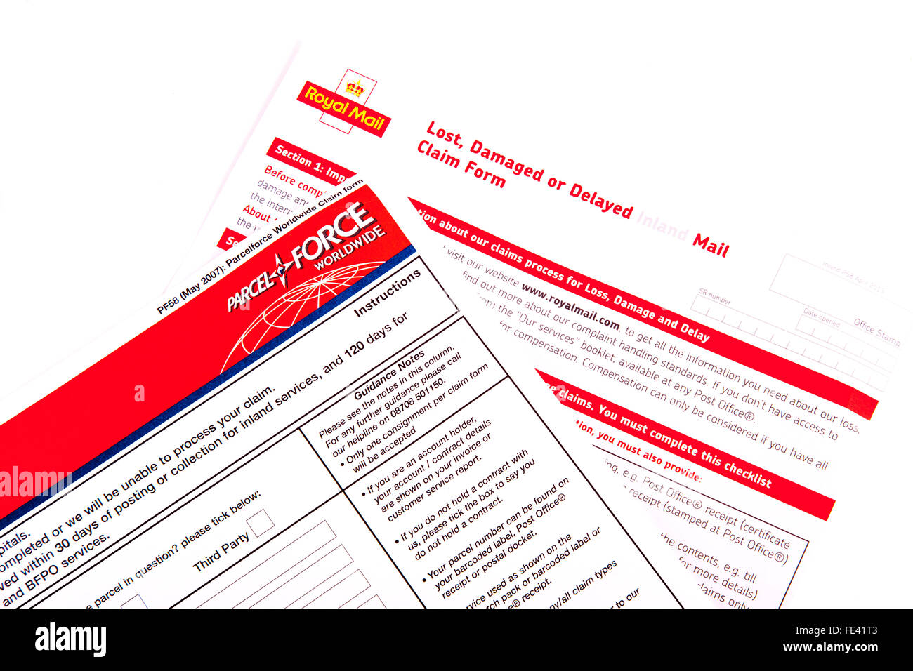 Claim form stock photos claim form stock images alamy royal mail lost damaged or delayed claim form claims post posted postage loss losses cut out falaconquin