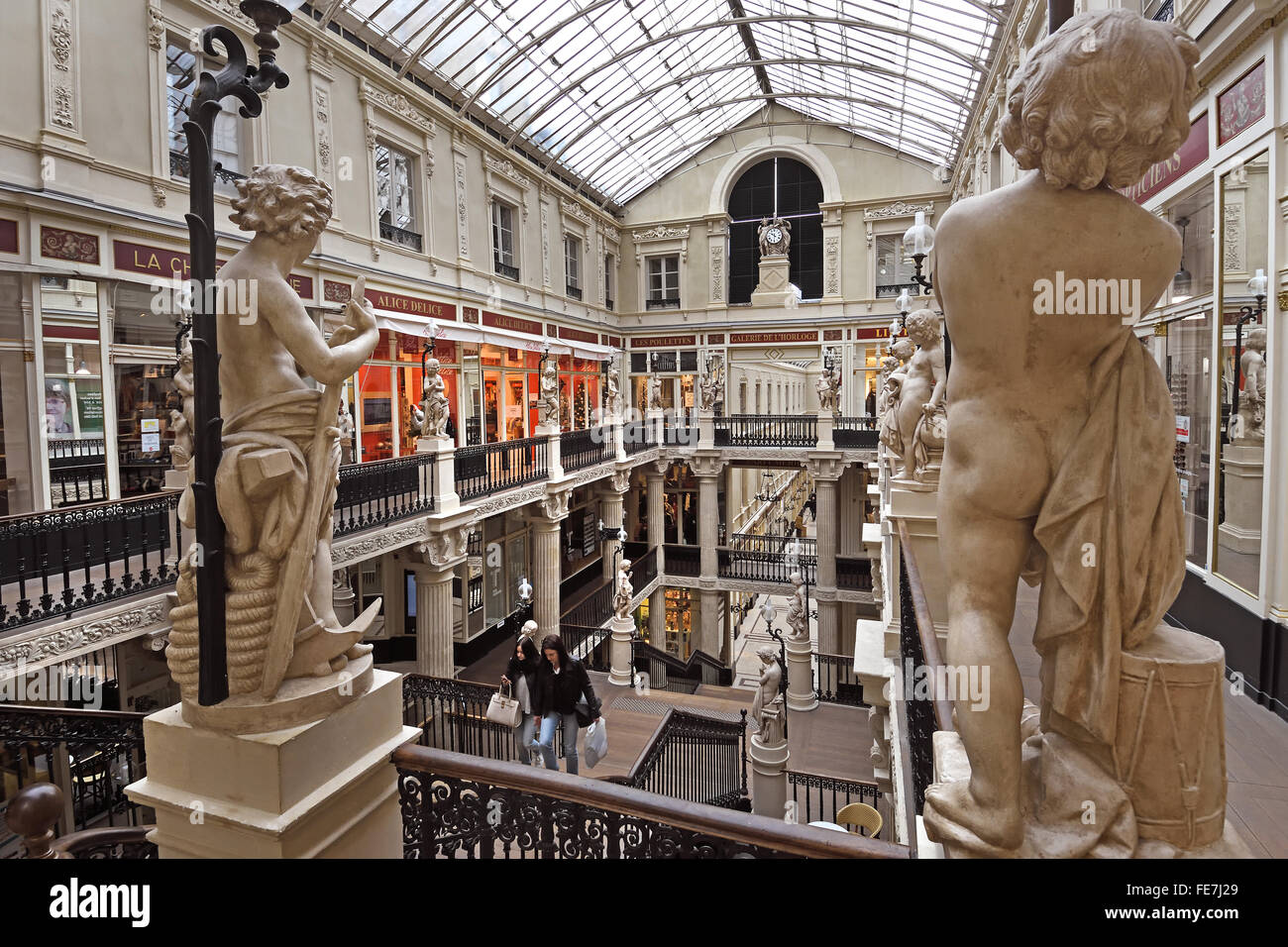 passage pommeraye 1843 nantes french france pommeraye is a small stock photo royalty free. Black Bedroom Furniture Sets. Home Design Ideas