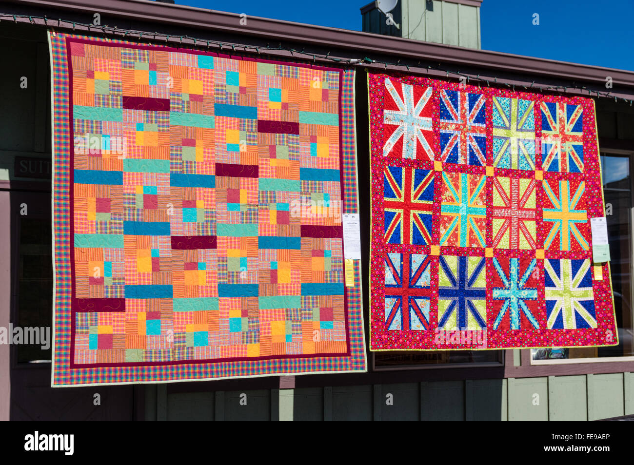 Quilts on display at the Sisters Outdoor Quilt Show, SIsters ... : quilt shows oregon - Adamdwight.com