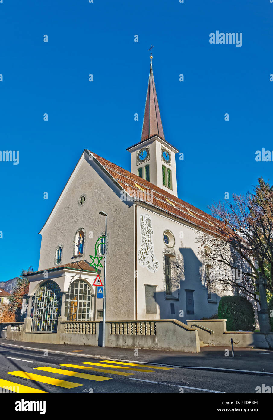 Catholic Church in Bad Ragaz. Bad Ragaz is a city in ...