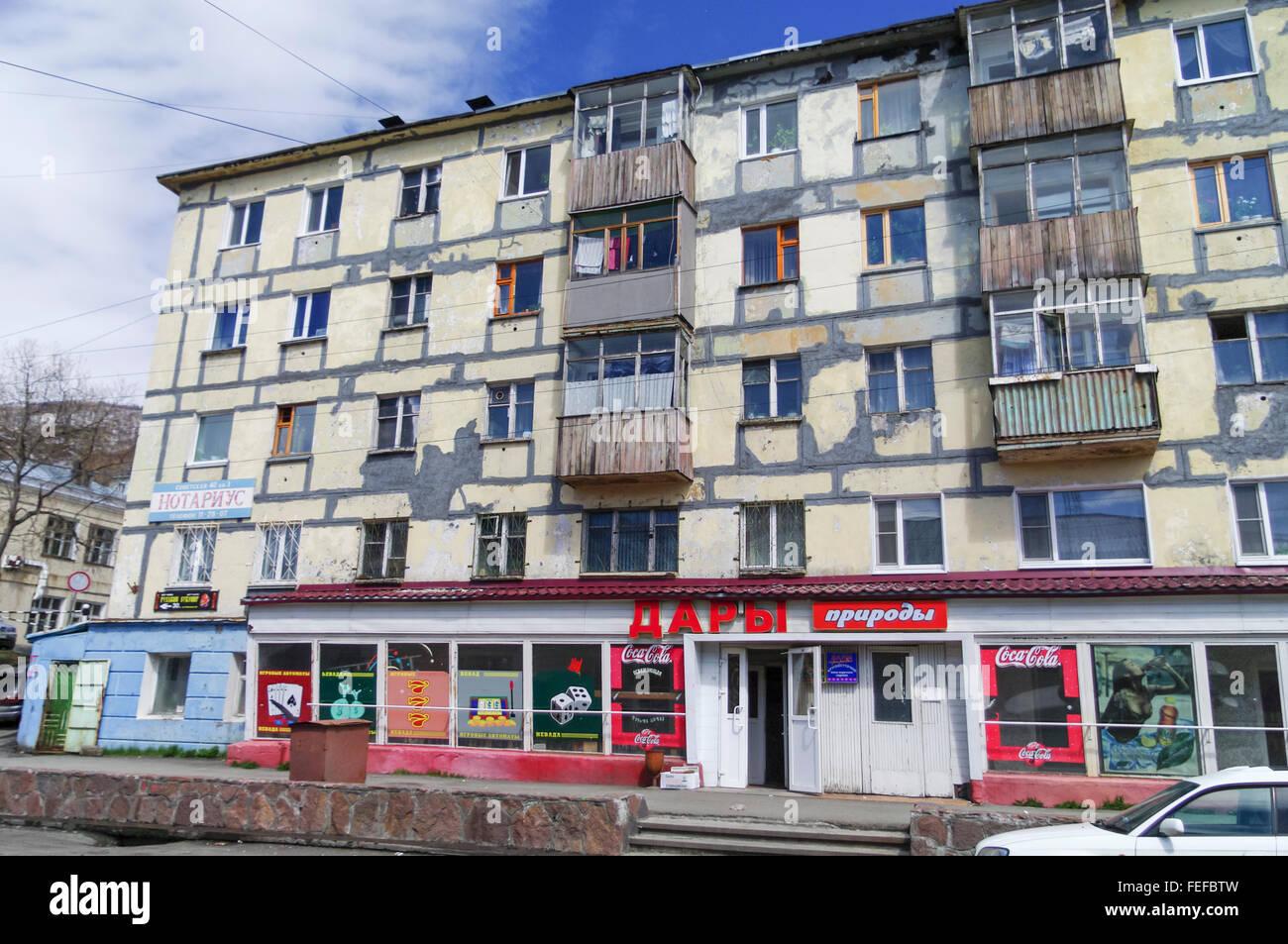 Rundown Building Decay Stock Photos Rundown: Run Down Residential Building In Sovetskaya Street