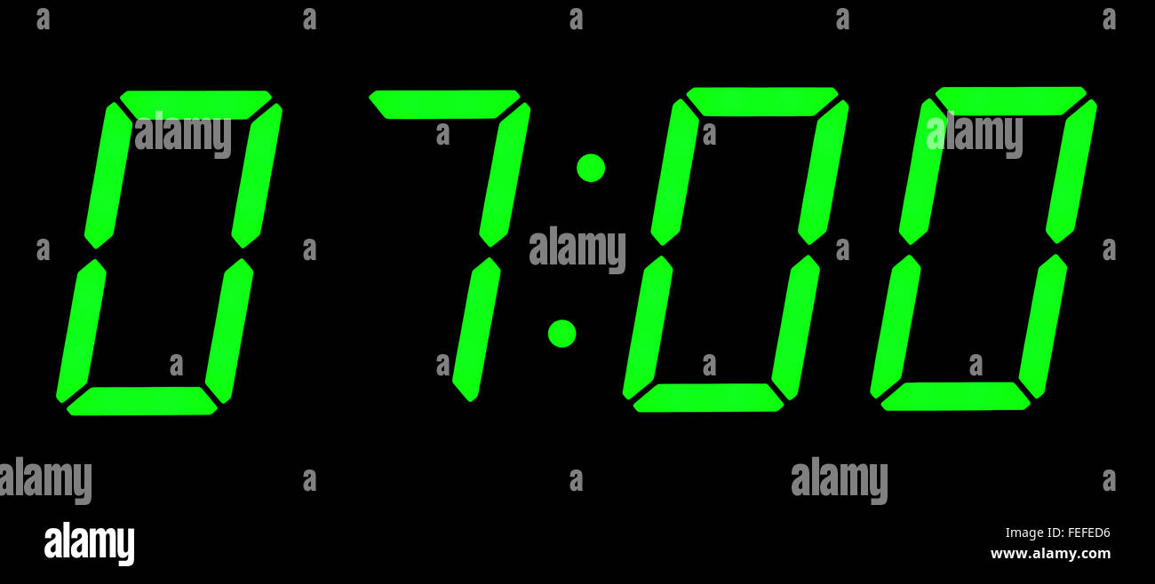 Image Gallery digital clock 7 00