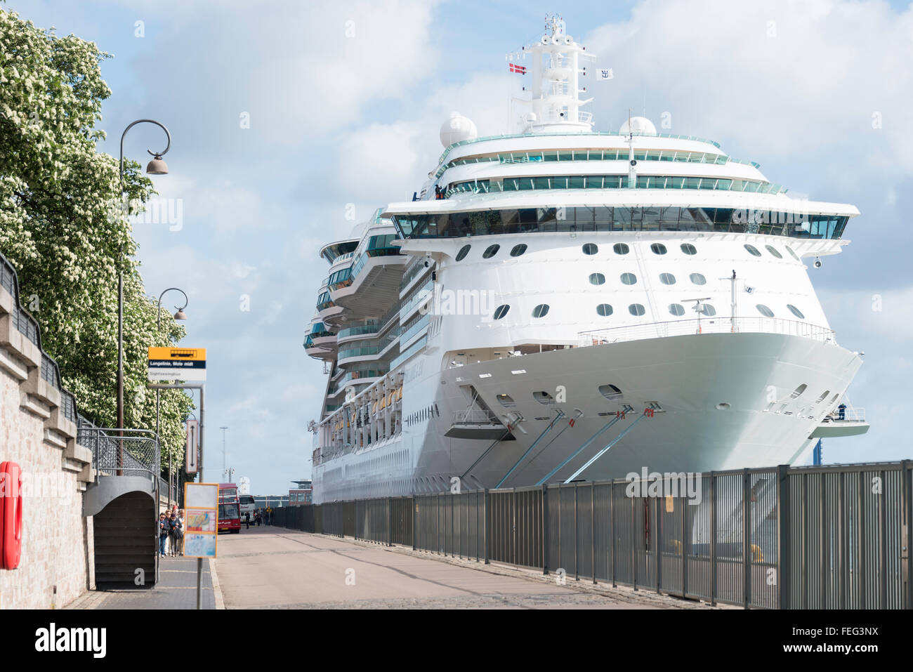 Royal Caribbeans Brilliance Of The Seas Cruise Ship Moored In - Cruise ship copenhagen