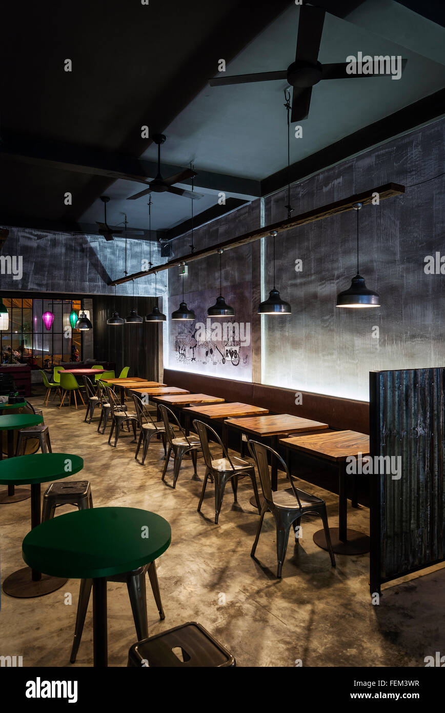 Modern Industrial Contemporary Interior Design Restaurant